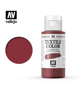 26 Dark Burgundy Textile Color Vallejo 60 ml.