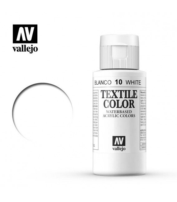 10 White Textile Color Vallejo 60 ml.