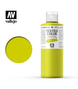 58 Apple Green Textile Color Vallejo 200 ml.