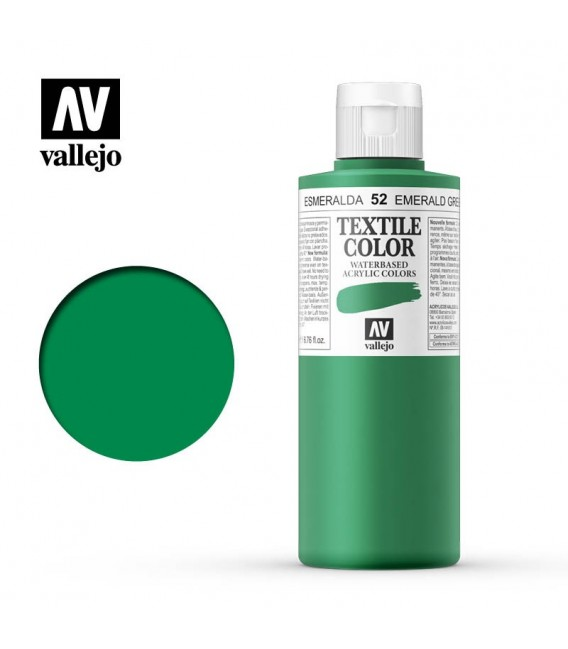 52 Emerald Green Textile Color Vallejo 200 ml.