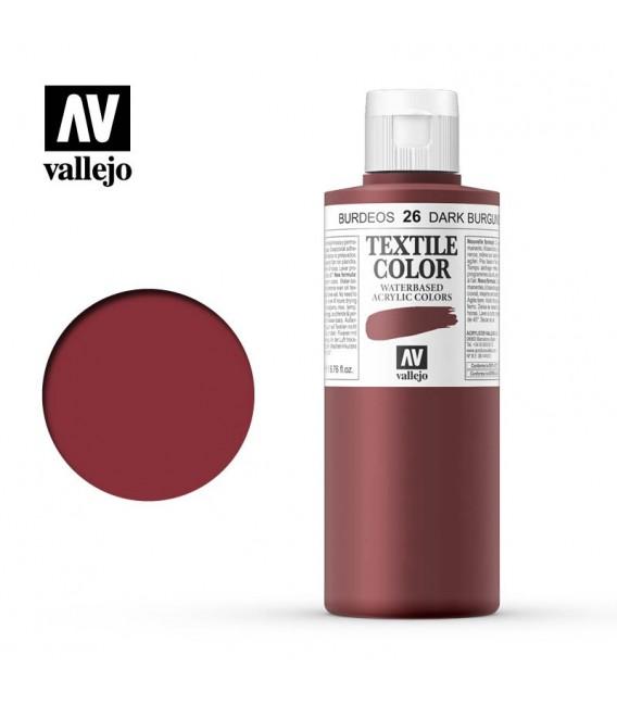 26 Dark Burgundy Textile Color Vallejo 200 ml.