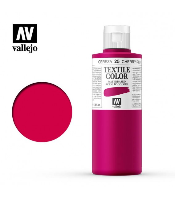 25 Cherry Red Textile Color Vallejo 200 ml.