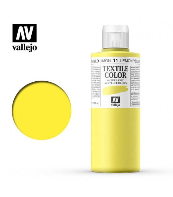 11 Lemon Yellow Textile Color Vallejo 200 ml.