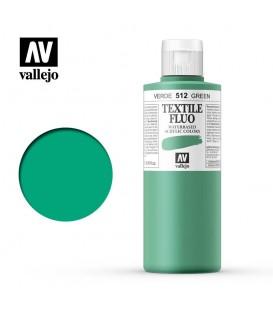 512 Green fluorescent Textile Color Vallejo 200 ml.