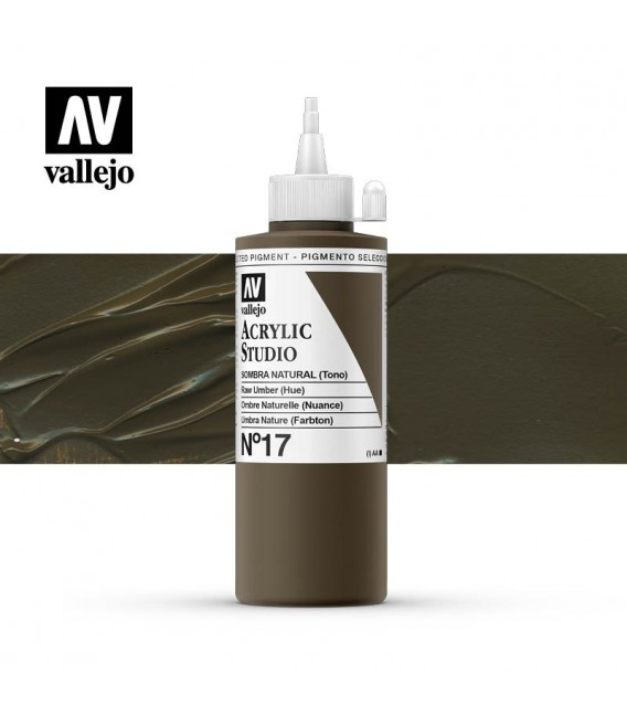 43) Acrilico Vallejo Studio 200 ml. 17 Sombra Natural (Tono)