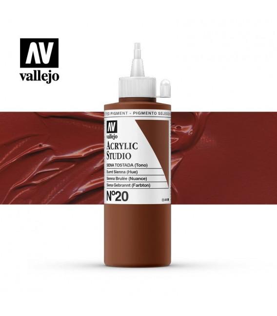 42) Acrylique Vallejo Studio 200 ml. 20 Sienna Brulée (Nuanc