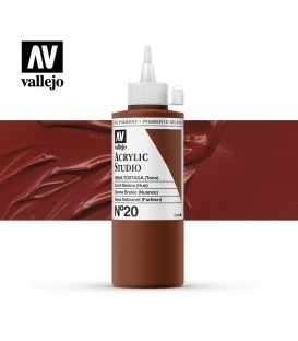 42) Acrylic Vallejo Studio 200 ml. 20 Burnt Sienna (Hue)
