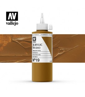 41) Acrylic Vallejo Studio 200 ml. 19 Raw Sienna