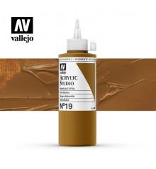 41) Acrylique Vallejo Studio 200 ml. 19 Sienna Naturelle