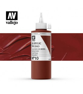40) Acrilico Vallejo Studio 200 ml. 10 Rojo Oxido de Hierro