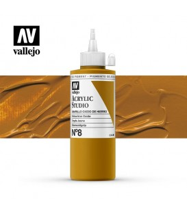 38) Acrillique Vallejo Studio 200 ml. 8 Jaune de Mars
