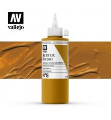 38) Acrillique Vallejo Studio 200 ml. 8 Jaune de Mars