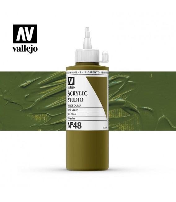 37) Acrilico Vallejo Studio 200 ml. 48 Olive Green