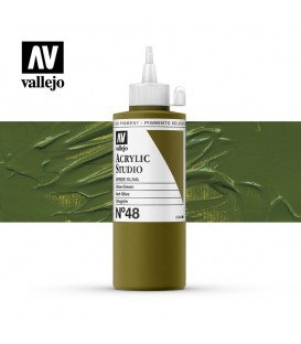 37) Acrylic Vallejo Studio 200 ml. 48 Olive Green