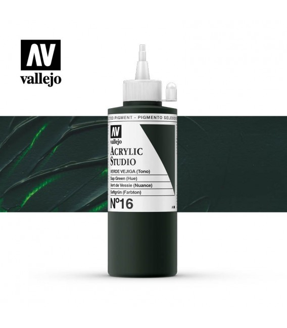 36) Acrilico Vallejo Studio 200 ml. 16 Sap Green (Hue)