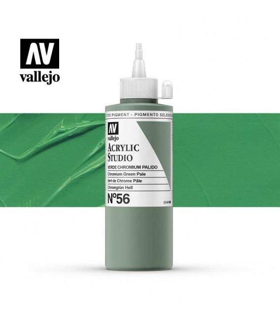 35) Acrylique Vallejo Studio 200 ml. 56 Pale Vert de Chrome