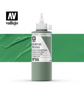35) Acrylic Vallejo Studio 200 ml. 56 Chromium Green
