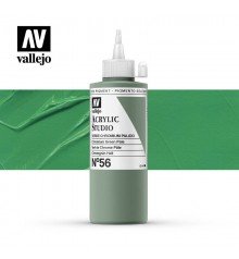 35) Acrilic Vallejo Studio 200 ml. 56 Verd Chromium Pal.lid
