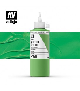 34) Acrylic Vallejo Studio 200 ml. 59 Green Light