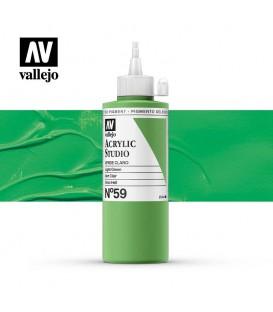 34) Acrylic Vallejo Studio 200 ml. 59 Green Light