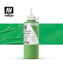 34) Acrilico Vallejo Studio 200 ml. 59 Green Light