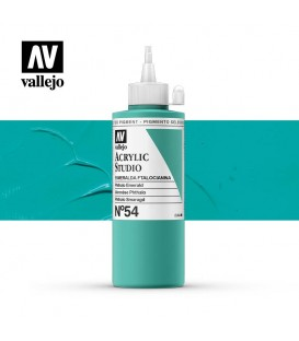 33) Acrylic Vallejo Studio 200 ml. 54 Phthalo Emerald
