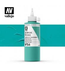 33) Acrylic Vallejo Studio 200 ml. 54 Phthalo Emerald