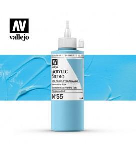 29) Acrylic Vallejo Studio 200 ml. 55 Phthalo Blue Pale