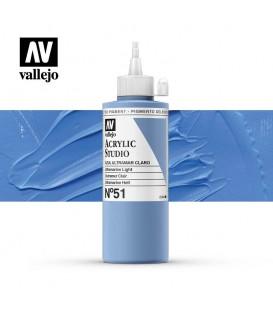 28) Acrilico Vallejo Studio 200 ml. 51 Azul Ultramar Claro