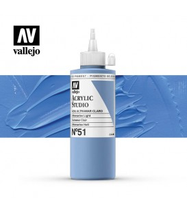 28) Acrylic Vallejo Studio 200 ml. 51 Ultramarine Light