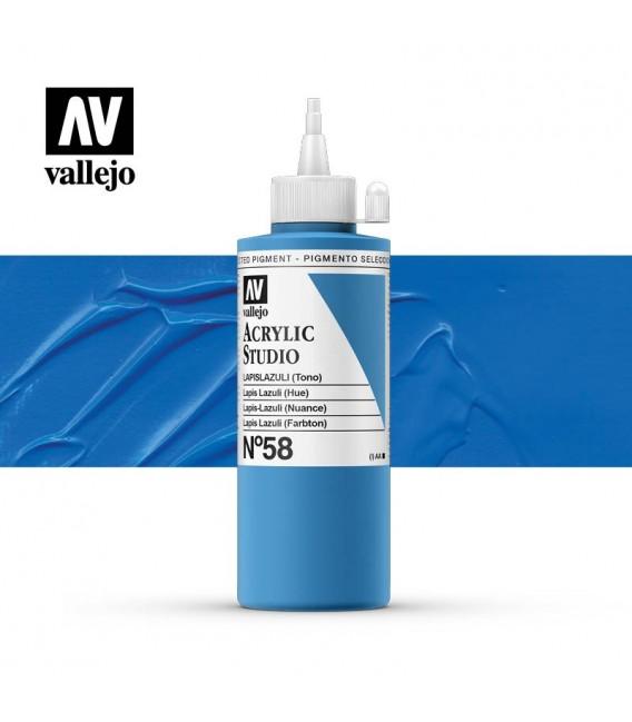 26) Acrylic Vallejo Studio 200 ml. 58 Lapis Lazuli (Hue)
