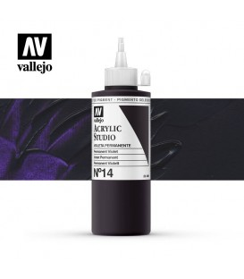 21) Acrylique Vallejo Studio 200 ml. 14 Violet Permanent