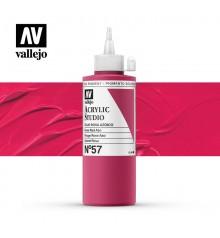 18) Acrylique Vallejo Studio 200 ml. 57 Rouge Rose Azo