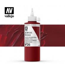 16) Acrilico Vallejo Studio 200 ml. 26 Rojo de Garanza (Tono