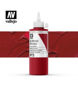 15) Acrylique Vallejo Studio 200 ml. 3 Crimson Rouge Naphtol