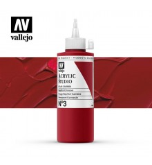 15) Acrilico Vallejo Studio 200 ml. 3 Naphtol Crimson