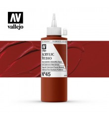 14) Acrylique Vallejo Studio 200 ml. 45 Rouge de Cad. Foncé