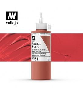 12) Acrilico Vallejo Studio 200 ml. 61 Rojo Veneciano (Tono)