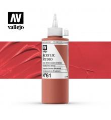 12) Acrylique Vallejo Studio 200 ml. 61 Rouge de Venise (Nua