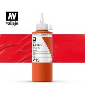 11) Acrilico Vallejo Studio 200 ml. 15 Naranja