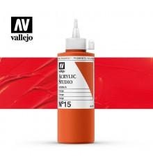 11) Acrylic Vallejo Studio 200 ml. 15 Orange