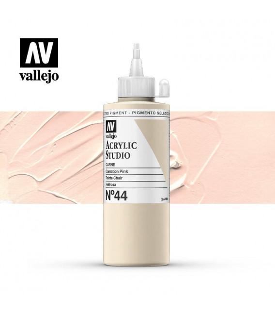 10) Acrylic Vallejo Studio 200 ml. 44 Carnation Pink