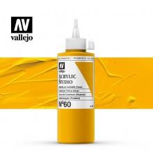 07) Acrylic Vallejo Studio 200 ml. 60 Cadmium Yellow (Hue)