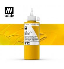 06) Acrilic Vallejo Studio 200 ml. 22 Groc Cadmi Fosc (To)