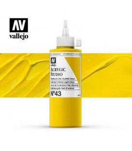 05) Acrilico Vallejo Studio 200 ml. 43 Amarillo Cad. Palido