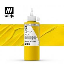 05) Acrylic Vallejo Studio 200 ml. 43 Cad. Yellow Pale (Hue)