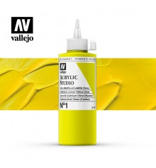 04) Acrilico Vallejo Studio 200 ml. 1 Cadmio Amarillo Limon