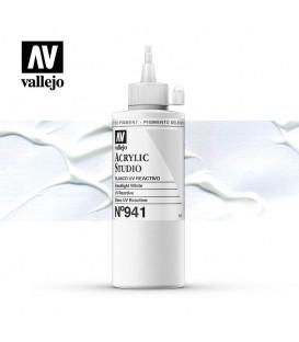 001) Acrylique Vallejo Studio 200 ml. 941 Blanc UV Reactive