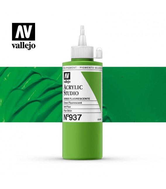 59) Acrilico Vallejo Studio 200 ml. 937 Green Fluorescent