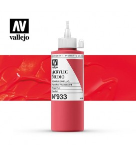 55) Acrilic Vallejo Studio 200 ml. 933 Vermell Foc Fluoresce